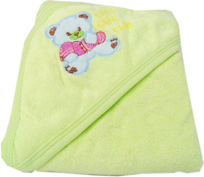 Baby's Clubb Cotton Baby Towel(Green, Dark Green)