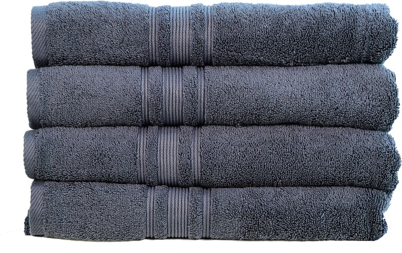 Rakshan Cotton Bath Towel Set(Pack of 4, Grey)
