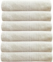 Akin Cotton Hand Towel(Pack of 6, White)