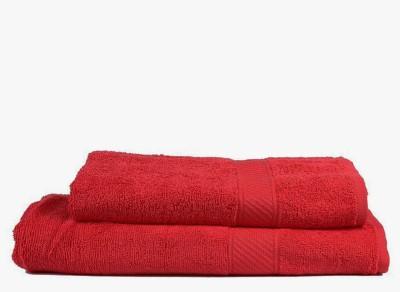 V Brown Cotton Bath Towel Set