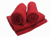 MB Cotton Hand Towel(Pack of 4, Red)