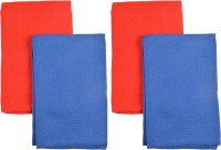Elite Home Cotton Hand Towel Set(Pack of 4, Blue, Orange)