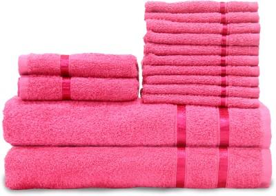 Queen Cotton Cotton Bath, Hand & Face Towel Set