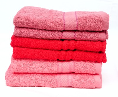 The Home Story Pink, Red Set of 6 Napkins
