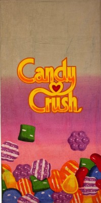 Candy Crush Cotton Bath Towel