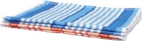 Jass Home Decor Jacquard Hand Towel Set(Pack of 4, Peach, Blue)