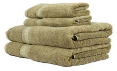 Trident Towels Cotton, Bamboo Bath & Hand Towel Set