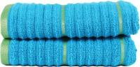 Casa Copenhagen Hand Towel(Pack of 2, Blue)