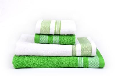 RR Textile House Cotton Bath Towel, Hand Towel, Face Towel Set