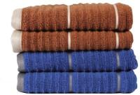 Casa Copenhagen Hand Towel(Pack of 4, Brown, Blue)