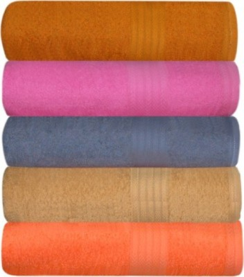 Big ShopOnline 5 Piece Bath Linen Set(Multicolor, Pack of 5)