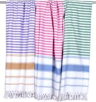 Sathiyas Cotton Bath Towel(Pack of 3, Lavender, Pink, Green)