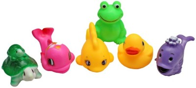 Kidzvilla Squeeze Boat2238 Toy Pack 6 Bath Toy