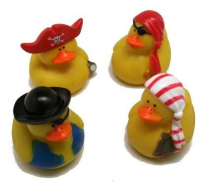 Fun Express Pirate Rubber Ducks Bath Toy