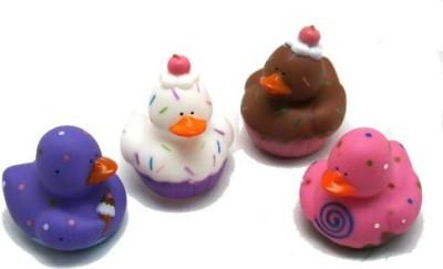 Fun Express 12 Sweet Treat Cupcake Ice Cream Rubber Ducks Bath Toy