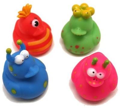 Fun Express 12 Vinyl Monster Rubber Duckies Bath Toy