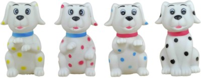 Babysid Collections Bath/ Squeeze Toys - Pack Of 4 Dogs Bath Toy