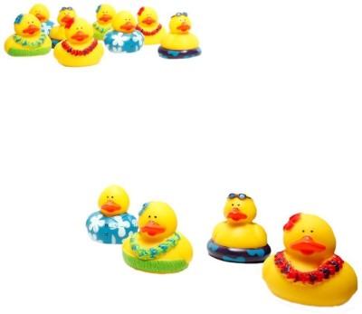 Fun Express Rubber Luau Duckies Hawaiian Hula [Toy] Bath Toy