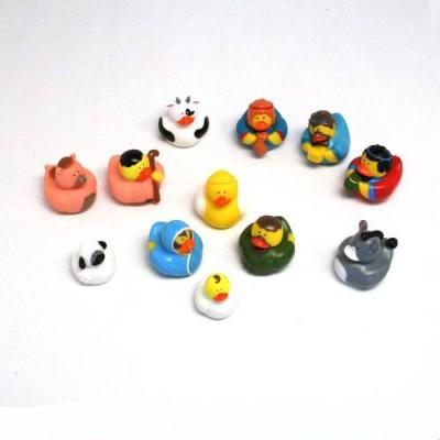Fun Express One Dozen (12) Rubber Duckie Ducky Duck Christmas Nativity Scene by Fun Express Bath Toy