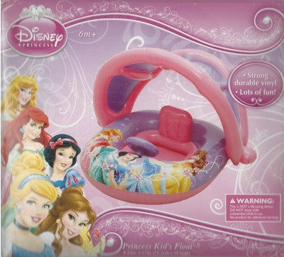 Disney Princess Inflatable Kids Float with Optional Sun Cover Canopy Bath Toy