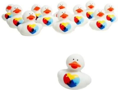 Fun Express Autism Awareness Rubber Ducks Bath Toy
