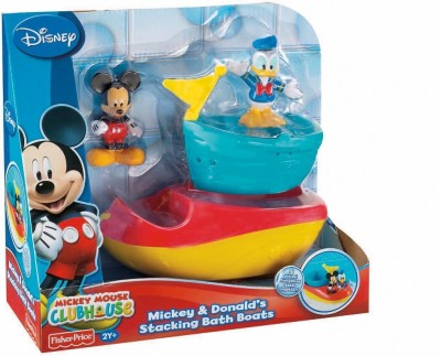 Fisher-Price Mickey And Donald's Stacking Bath Boats Bath Toy