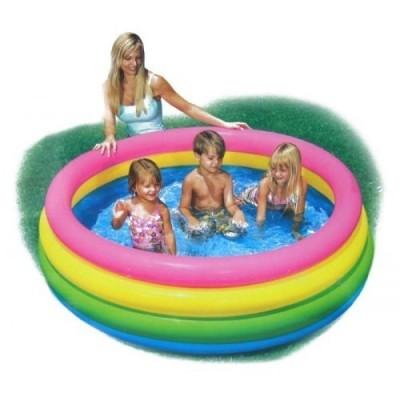 99DOTCOM Intex Inflatable Play Box Pool, Multi Color Bath Toy
