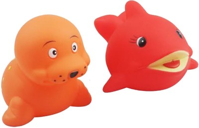 icable Floating Toys 2 Pieces Chirping Twittering Squeaky for Babies Infants Ages 0-3 Years Bath Toy