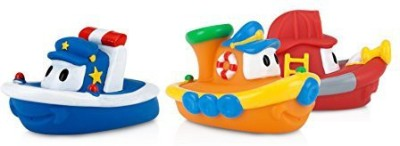 Nuby Tub Tugs Floating Boats - 2 Pack Bath Toy