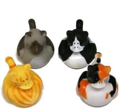 Fun Express Vinyl Cat Rubber Duckies Bath Toy