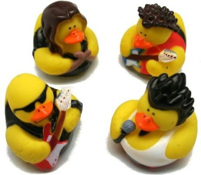 Fun Express Rock Star Rubber Duckies Toy Bath Toy