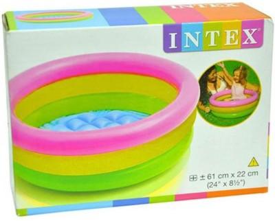 99DOTCOM Intex Inflatable Baby Pool, Multi Color (3-feet) Bath Toy
