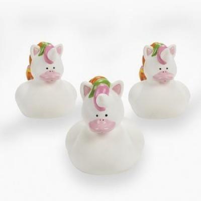FE Unicorn Rubber Duckies (1 Dozen) - Bulk Bath Toy
