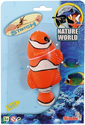 Simba Nature World-14-16cm Stretchable Tropical Fish Bath Toy