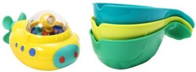 Munchkin Strain Whales Bath Bath Toy(Multicolor)