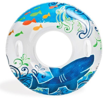Intex TRANSPARENT TUBE (BLUE) - 58263NP (38IN) Bath Toy
