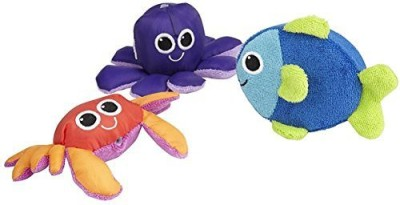 Sassy Soft Swimmers Animal Characters Bath Toy, 3 Pack Bath Toy
