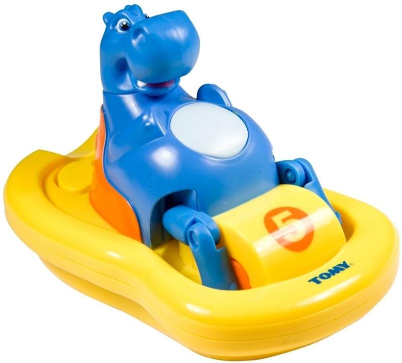 tomy гиппопотам на лодке