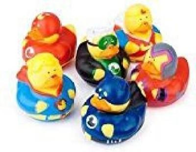 Fun Express Superhero Rubber Duckies Bath Toy
