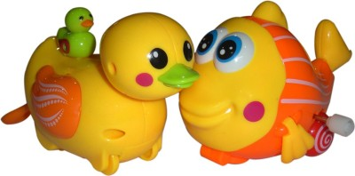 Brunte Swinging Duck and wiggling fish Set Bath Toy