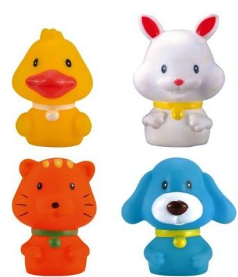 Baby World Non Toxic Four Friends Bath Toy(Multicolor)