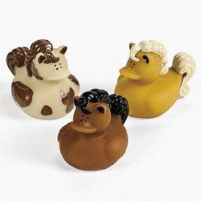 Fun Express 12 Horse Rubber Duckys Bath Toy