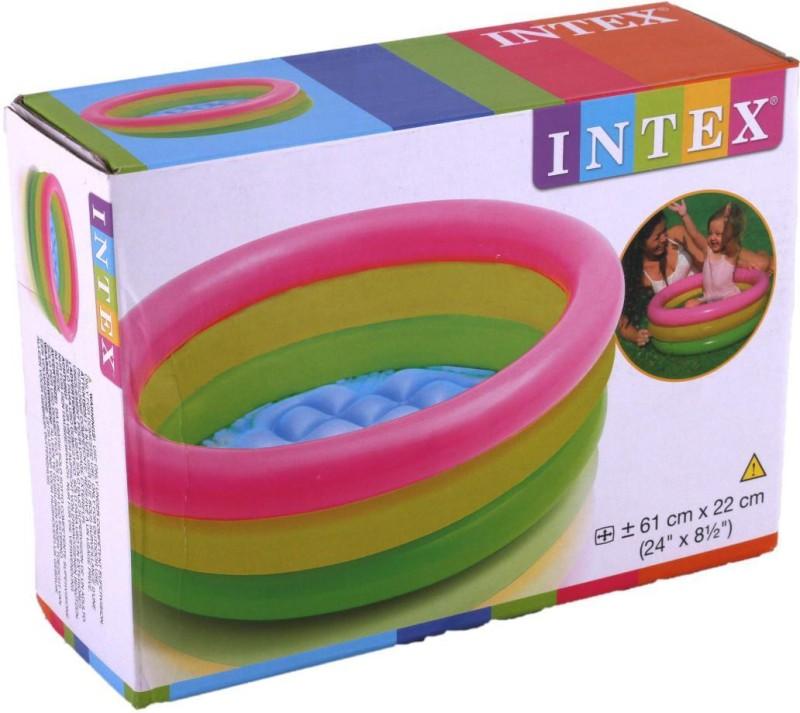 ShopAddict Kids Swimming Pool 2 feet Intex Bath Toy(Multicolor)