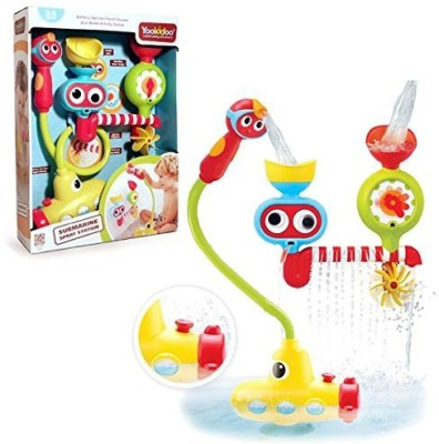 Yookidoo Submarine Spray Station - Battery Operated Water Pump With Hand Shower And More Bath Toy(Multicolor)