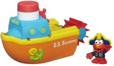Sesame Street Bath Adventure Steamboat Bath Toy
