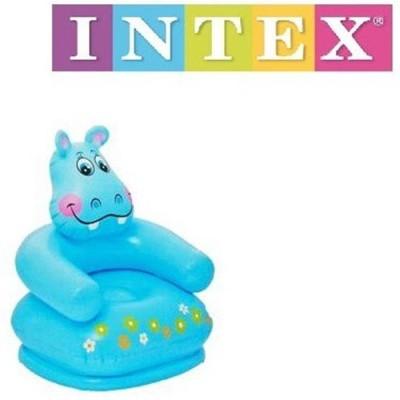 Intex HAPPY ANIMAL CHAIR (BLUE) - 68556NP (25.5IN X 25IN X 29IN) Bath Toy