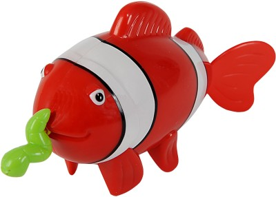Simba World Of Toys - Pull String Sea Animal Red & White Bath Toy