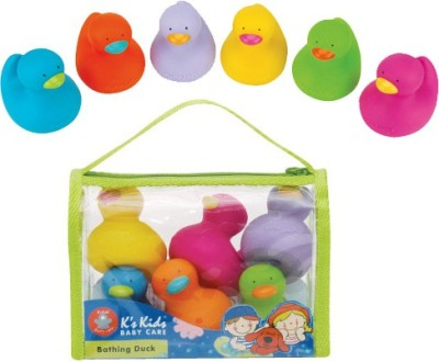 K's Kids Bathing Duck Set 6 pcs Bath Toy