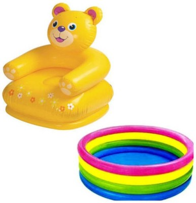Ganpati Traders Baby Pool & Teddy Chair Bath Toy