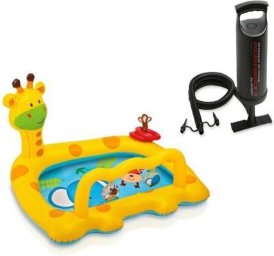 Intex Aadoo Giraff Pladding Pool Tub with Air Pump